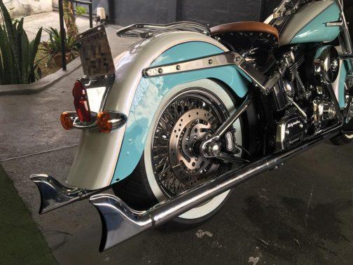 Escapamento para Harley Davidson Deluxe K12 Rabo de Peixe Cromado