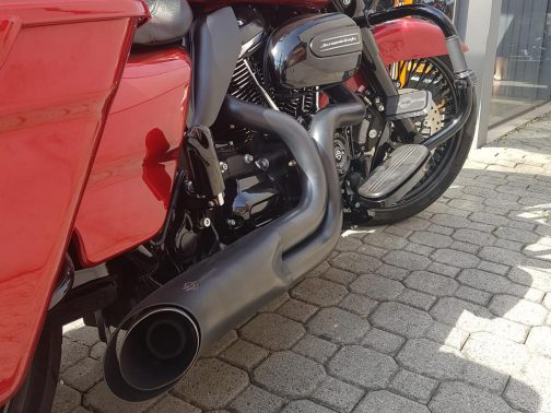 Escapamento para Harley Davidson Road Glide Special Pata de Vaca 2x1 T-Black