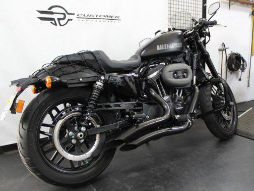 Escapamento para Harley Davidson Sportster Roadster K10 Curvo T-Black Corte Lateral