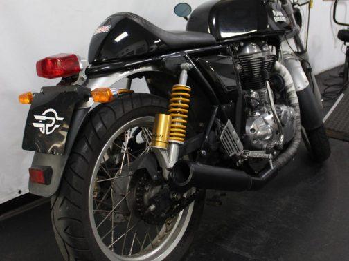 """Ponteiras para Royal Enfield GT 535 3"""" Corte Reto T-Black com Terminais Pretos"""