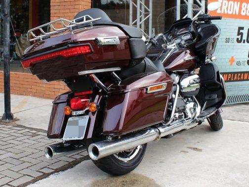 """Ponteiras para Harley Davidson Touring Road Glide Special 4"""" Corte Reto Cromadas com Terminais Cromados"""