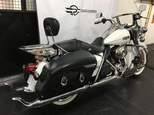 """Ponteiras para Harley Davidson Touring Road King 3.5"""" Rabo de Peixe Tradicional Cromadas"""
