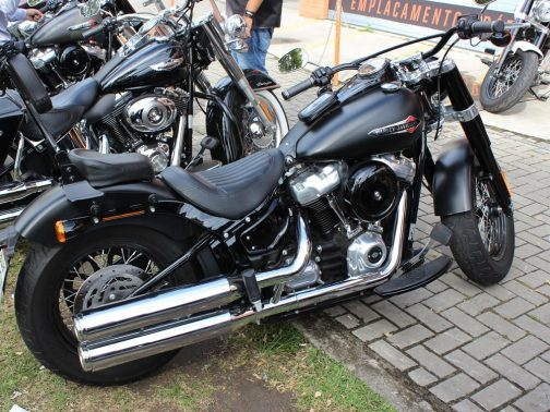 Ponteiras para Harley Davidson Slim (2018+) Corte Reto Cromadas com Terminais Cromados