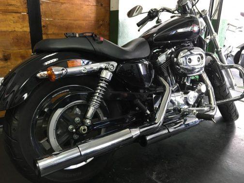 """Ponteiras para Harley Davidson Sportster XL 1200 3"""" Corte Reto Cromadas com Terminais Pretos"""