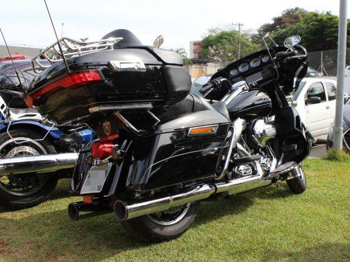 Ponteiras para Harley Davidson Touring Ultra Limited Canhão Cromadas Terminais Pretos