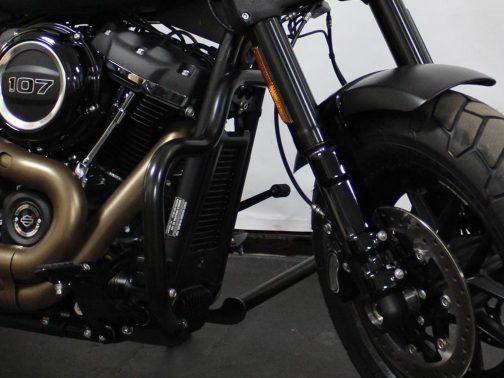 Protetor de Motor para Harley Davidson Fat Bob (2018+) Moustache Preto