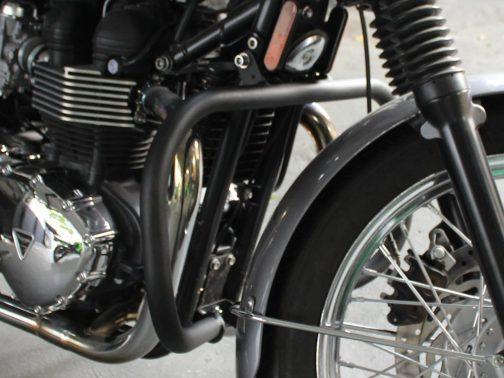 Protetor de Motor para Triumph Boneville T100 Tradicional Preto