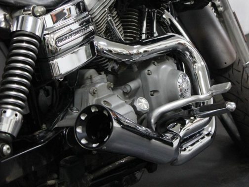 Escapamento para Harley Davidson Dyna SuperGlide 2x1 Cônico Cromado