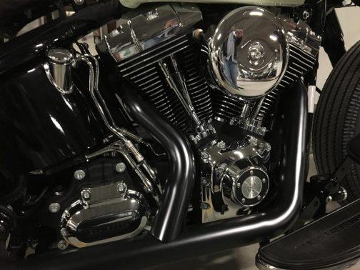 Escapamento para Harley Davidson Softail (Até 2017) 2X1 Preto com Ponteira Especial