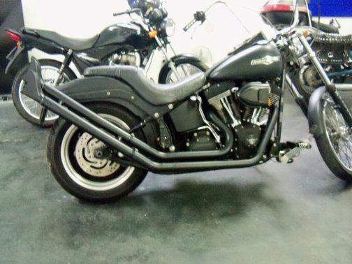 Escapamento para Harley Davidson FX 2x2 Rabo de Peixo T-Black
