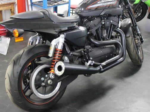 Escapamento para Harley Davidson XR1200 2x1 T-Black com Ponteira Cônica