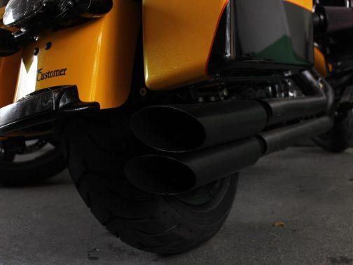 Escapamento para Harley Davidson Touring Ultra Limited 2x2 T-Black