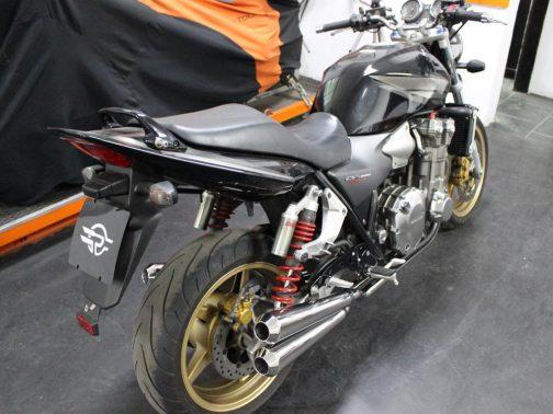 Escapamento para Honda CB1300 Super Four 4 em 4 em Inox com Ponteiras Cônicas