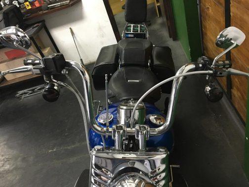 """Guidão para Harley Davidson Fat Boy 14"""" Cromado"""
