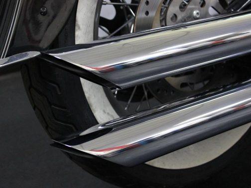 "Ponteiras para Harley Davidson Softail Deluxe (Até 2017) 3""1/4 Corte Baixo Longas Cromadas"
