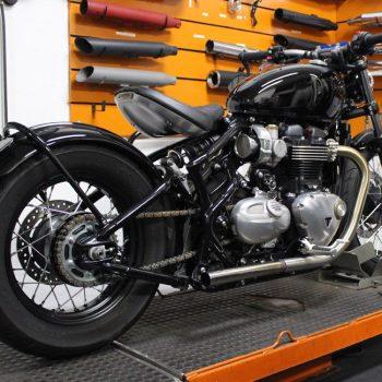 Ponteiras para Triumph Bobber – Projeto Especial