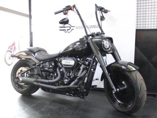 """Escapamento para Harley Davidson Fat Boy (2018) 2X1 3.5"""" T-Black"""